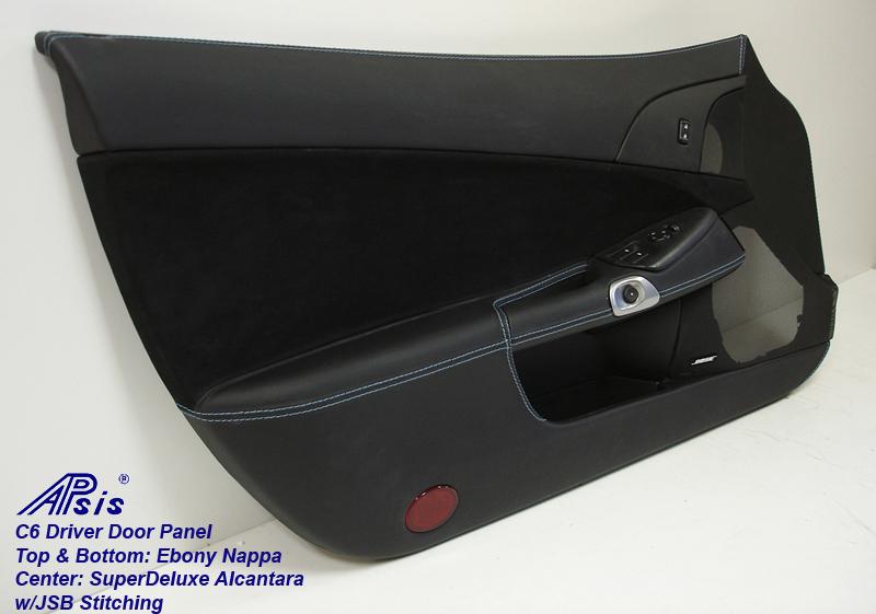 C6 Door Panel-ebony + alcantara w-jsb stitching-full-driver-2