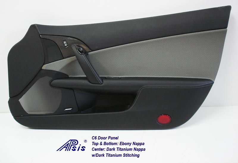 C6 Door Panel-perf dark titanium+ebony-pass-individual-1