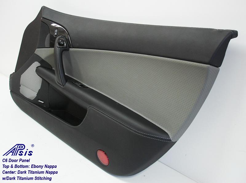 C6 Door Panel-perf dark titanium+ebony-pass-individual-2
