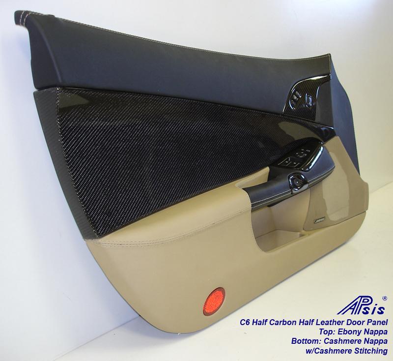 C6 Door Panel w-CF ebony+cashmere w-cashmere stitching-driver-individual-3
