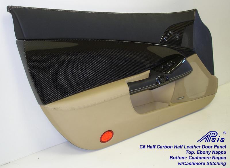 C6 Door Panel w-CF ebony+cashmere w-cashmere stitching-driver-individual-4