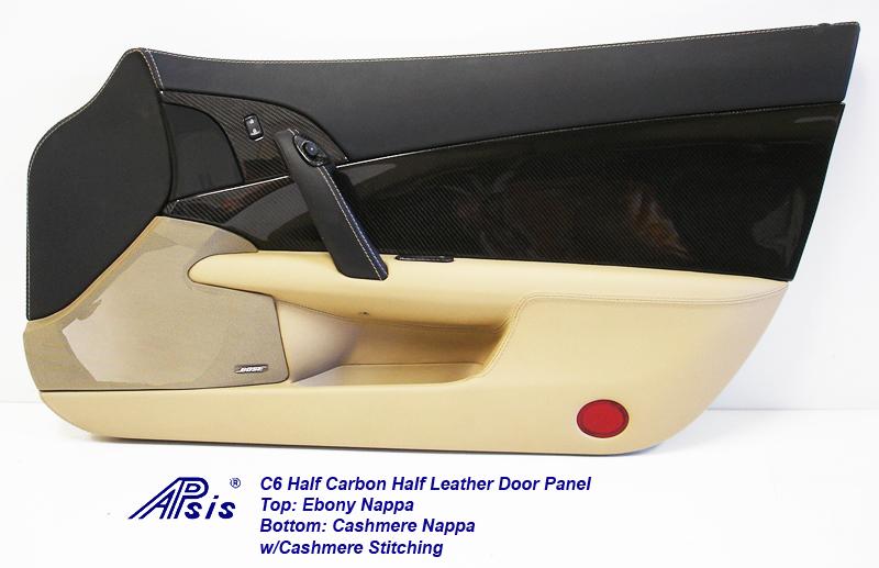 C6 Door Panel w-CF ebony+cashmere w-cashmere stitching-individual-pass-1