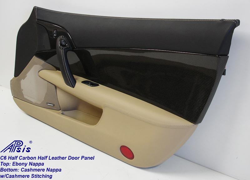 C6 Door Panel w-CF ebony+cashmere w-cashmere stitching-individual-pass-4