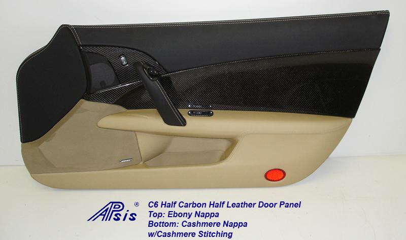 C6 Door Panel w-CF ebony+cashmere w-cashmere stitching-individual-pass-7