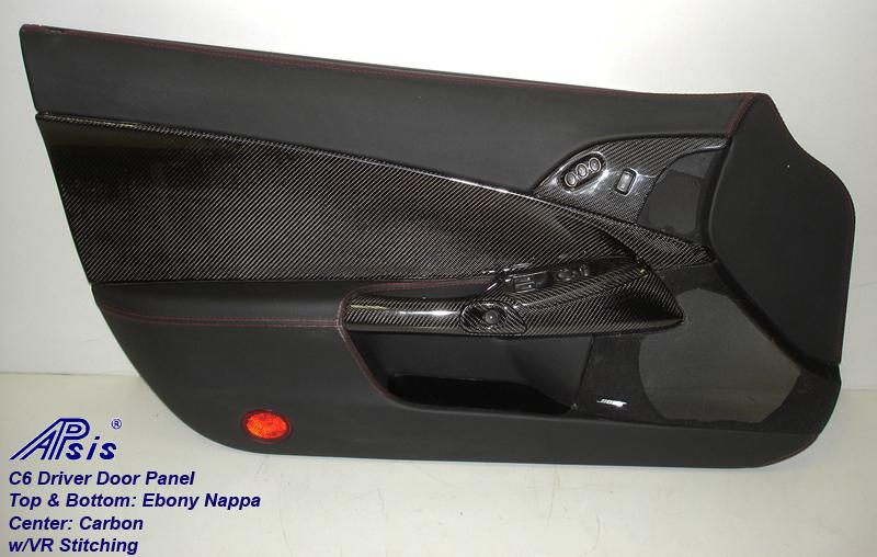 C6 Door Panel w-carbon-ebony w-vr stitching-driver-7-best