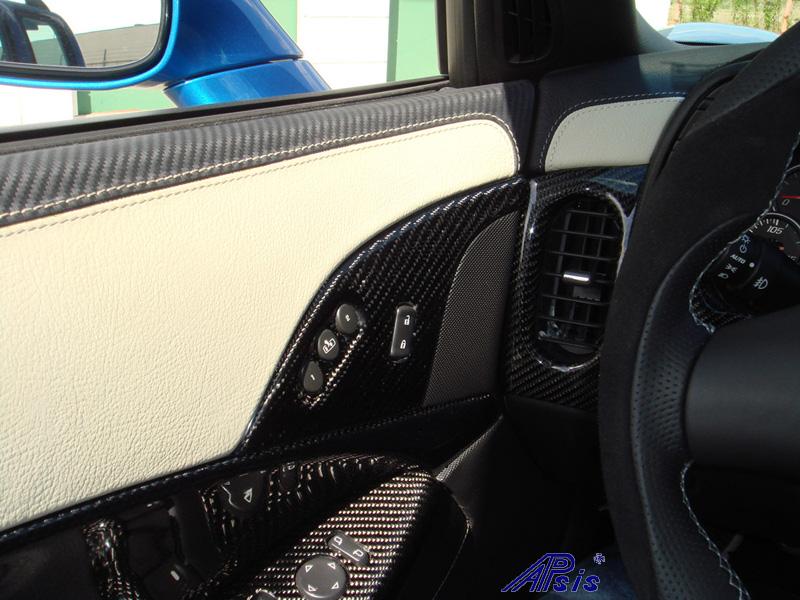 C6 Door Panel w-carbon + linen leather-installed-2