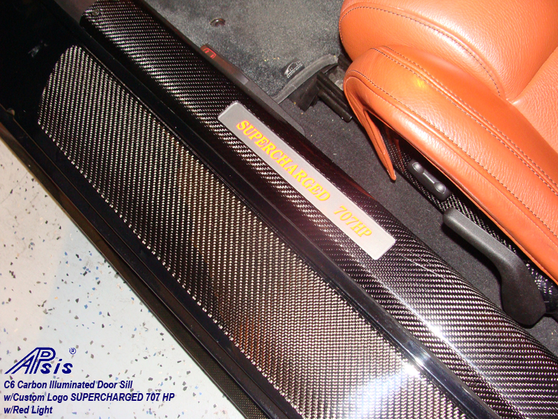 C6 Door Sill-carbon w-supercharged 707hp-red light-2
