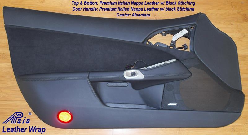 C6 Driver Door Panel & Door Handle - Nappa Leather & Alcantara-2