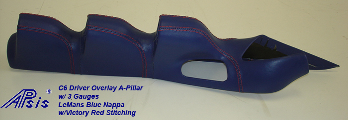 C6 Driver Overlay A-Pillar w-3 gauge-LMB w-VR stitching-individual-5