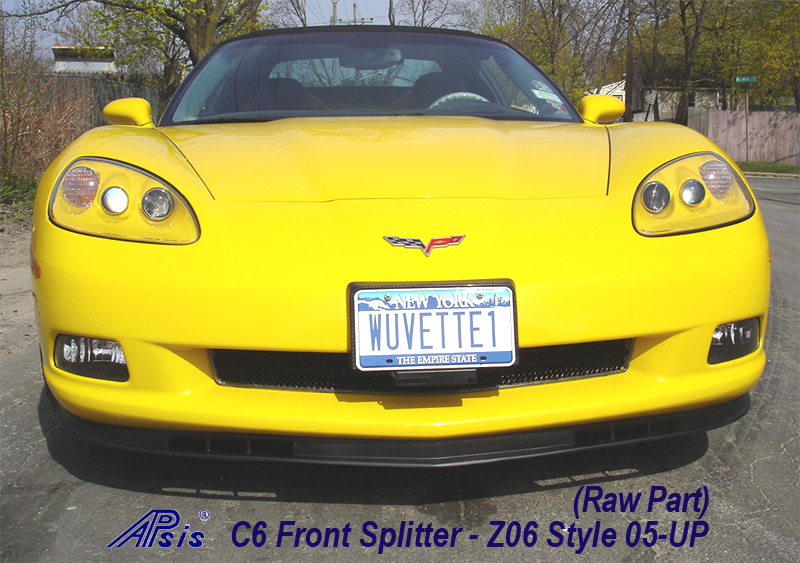 C6 Front Splitter -Z06 Style Front View 05-UP - 800