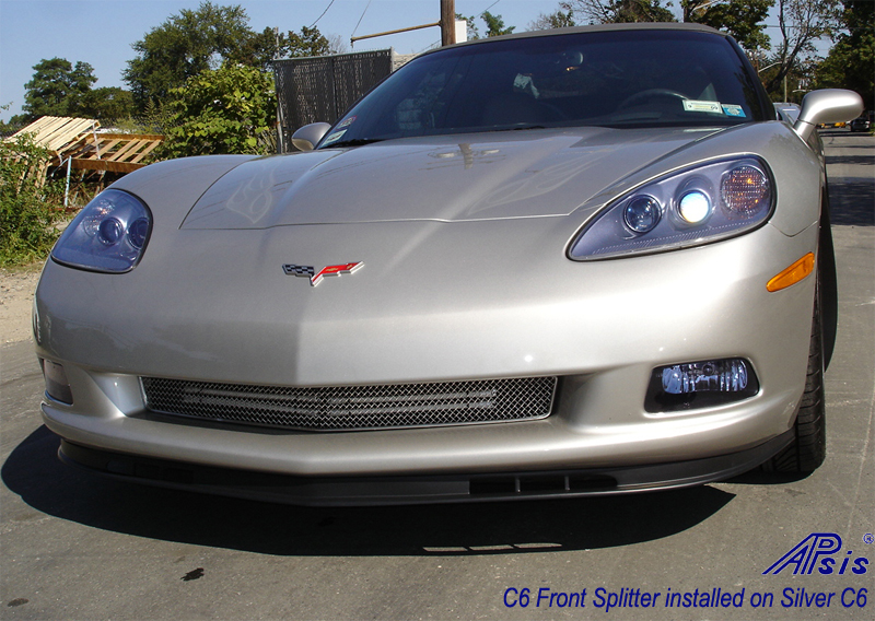 C6 Front Splitter -Z06 Style Side Right View 05-UP - 800 - on Silver C6