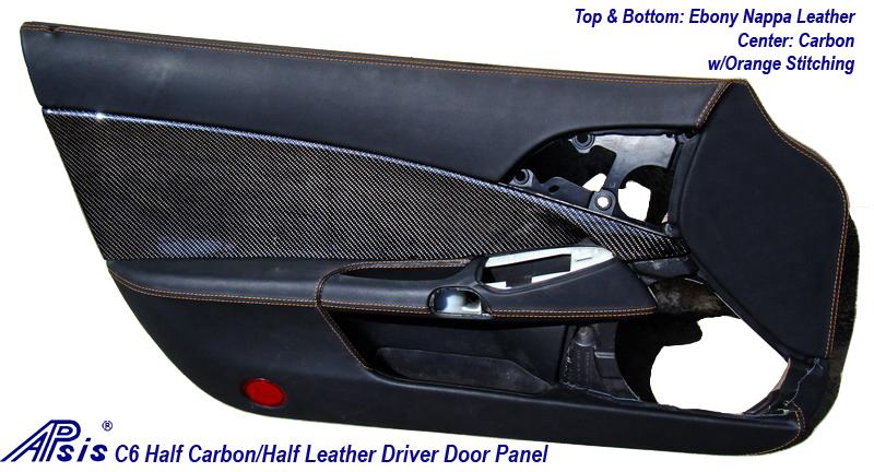 C6 Half Carbon Half Leather Door Panel-prototype sample-DF-1-done