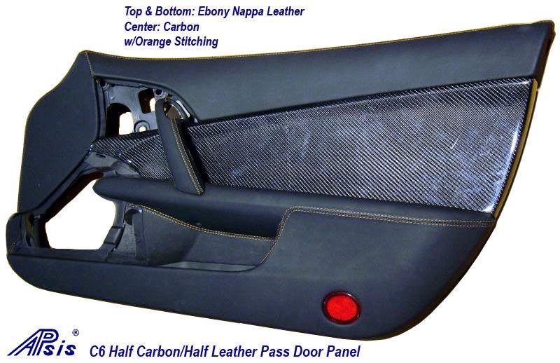 C6 Half Carbon Half Leather Door Panel-prototype sample-PF-1-done