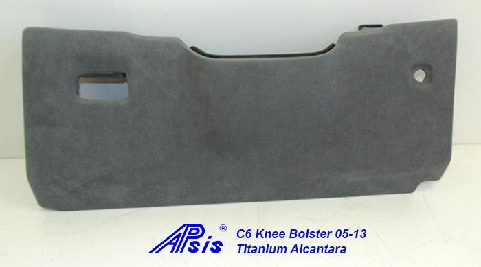 C6 Knee Bolster-titanium alcantara-1