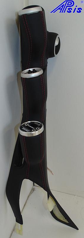 C6 Modified A-Pillar w-3 gauges-EB w-red-1