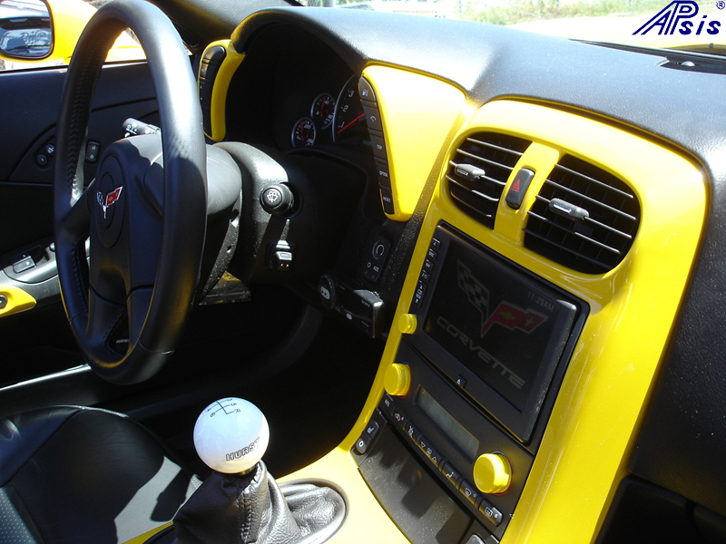 C6 Painted Millenium Yellow Dashes-installed-2