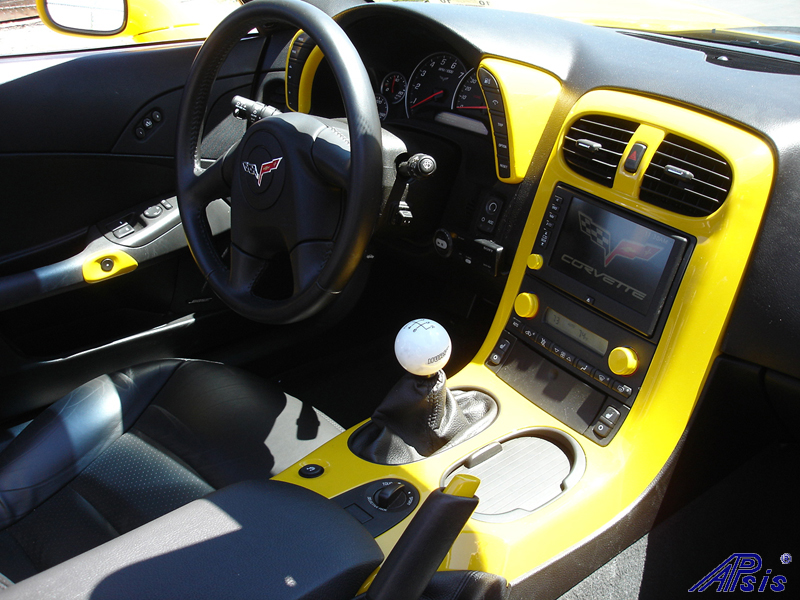 C6 Painted Millenium Yellow Dashes-installed-3