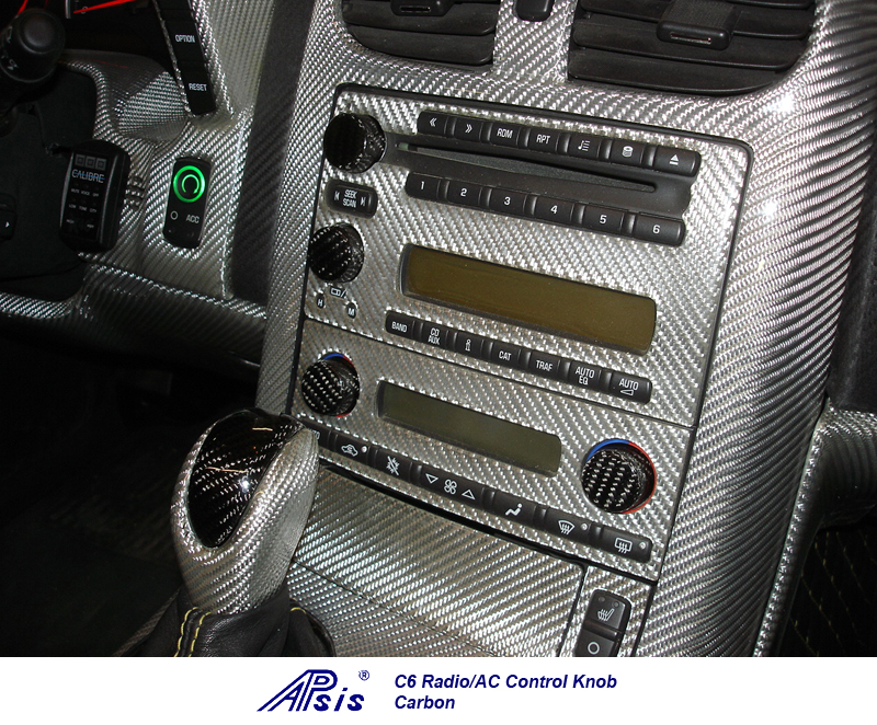 C6 Radio-AC Knob-CF-installed on jerseys car-3
