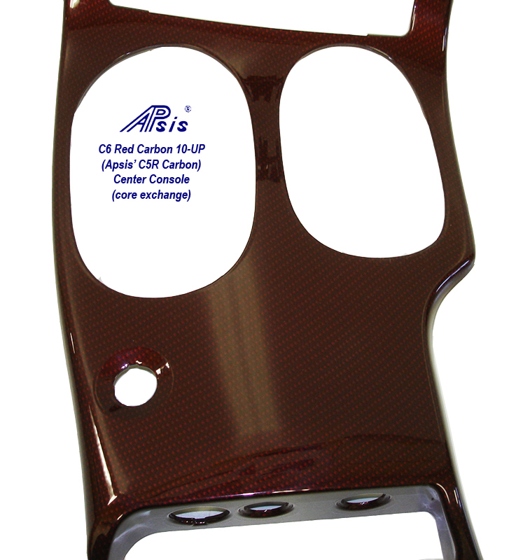 C6 Red Carbon-center console-2