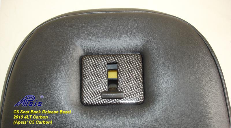 C6 Seat Back Release Bezel-C5CF-3a