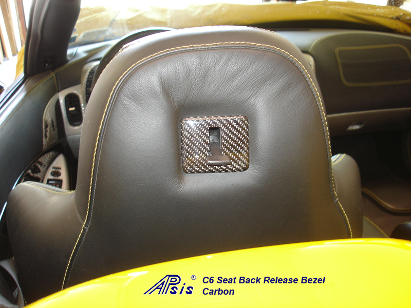 C6 Seat Back Release Bezel-CF-installed-2