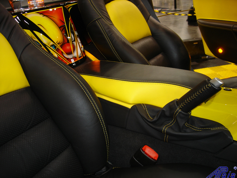 C6 Seat Cover-lou ann-installed-2012 show-1