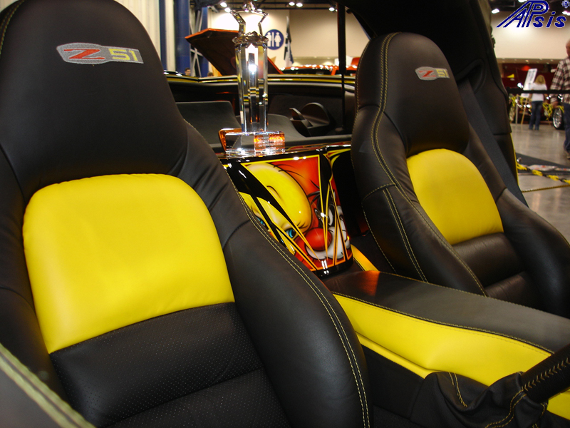 C6 Seat Cover-lou ann-installed-2012 show-2