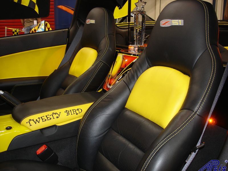 C6 Seat Cover-lou ann-installed-2012 show-3