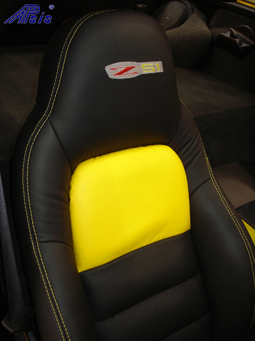 C6 Seat Cover-lou ann-installed-pass-5-close shot