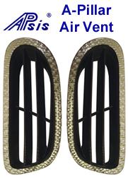 C6 Silver CF-A-Pillar Air Vent-350