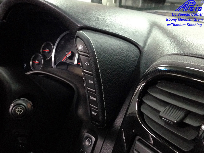 C6 Speedo Corner-bentley w-titanium stitching-installed-1