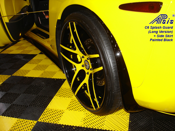 C6 Splash Guard-long-painte black-installed on twitter bird-2