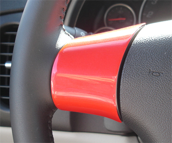 C6 Spoke Cap - Victory Red 06-UP w- Radio 350 - Left Side