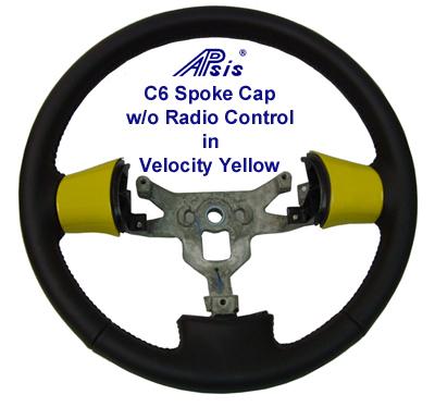 C6 Spoke Cap w-Radio-Velocity Yellow-installed on SW- 400