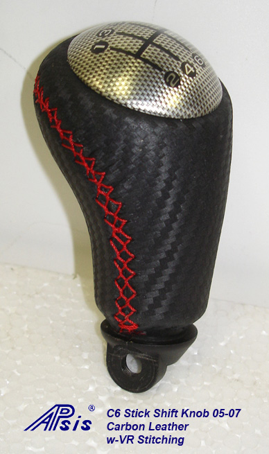 C6 Stick SK 05-07-carbon leather w-red stitching-individual-1