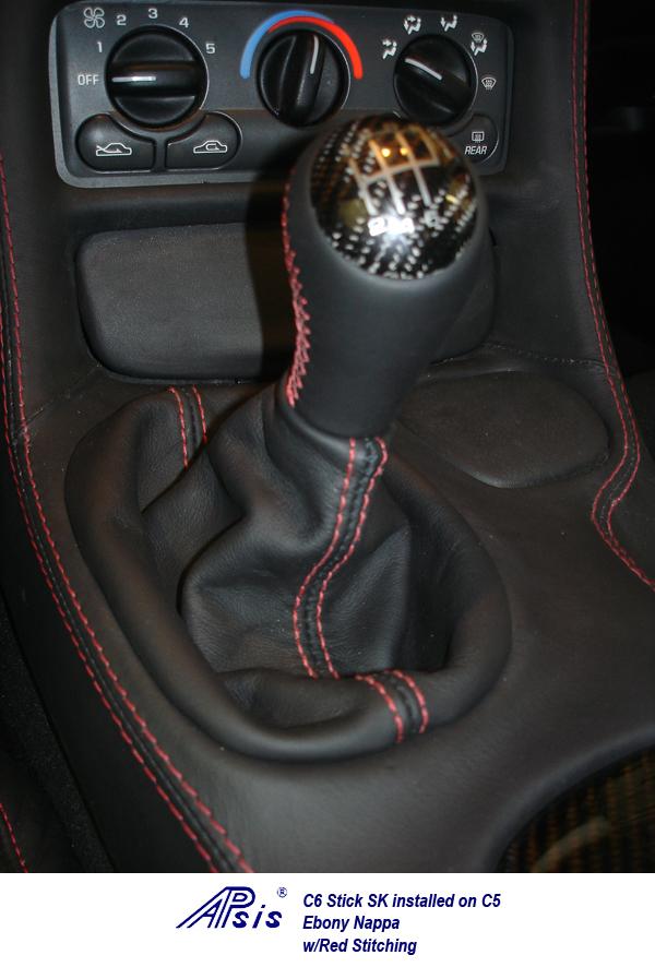 C6 Stick SK installed on C5-ebony w-red stitching-1