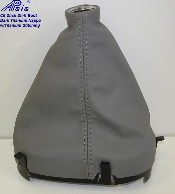 C6 Stick Shift Boot-dark titanium-2
