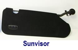 C6 Sunvisor in Alcantara 250