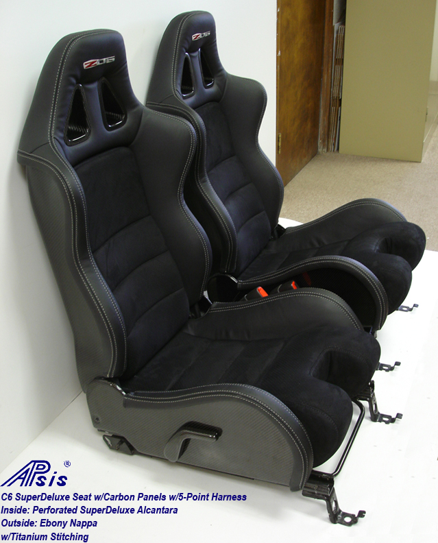 C6 SuperDeluxe Seat w-CF-EB+SA w-Ti-pair-side view-2