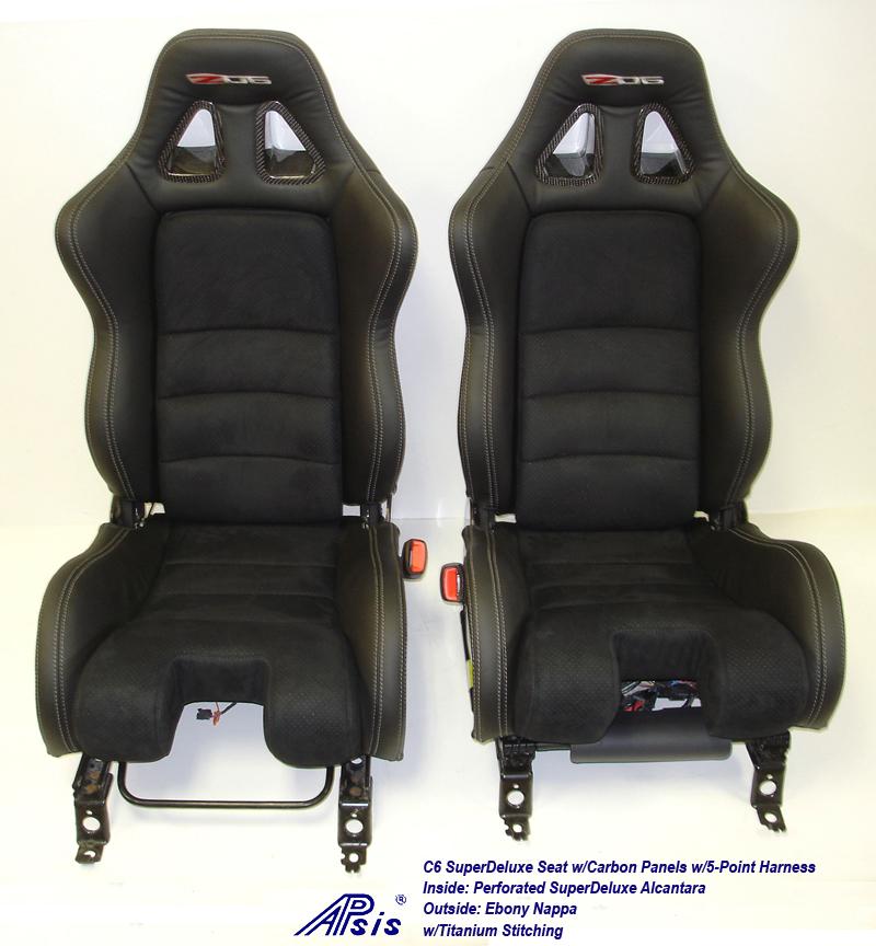 C6 SuperDeluxe Seat w-CF-EB+SA w-Ti-pair-straight view-2a w-flash
