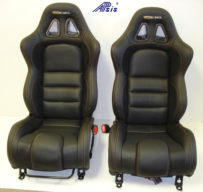 C6 SuperDeluxe Seat w-carbon-EB+CL+AL w-orange stitching-pair-straight-1