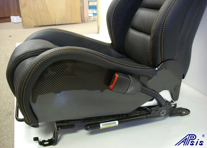 C6 SuperDeluxe Seat w-carbon-EB+CL+AL w-orange stitching-pass-side panel only-2