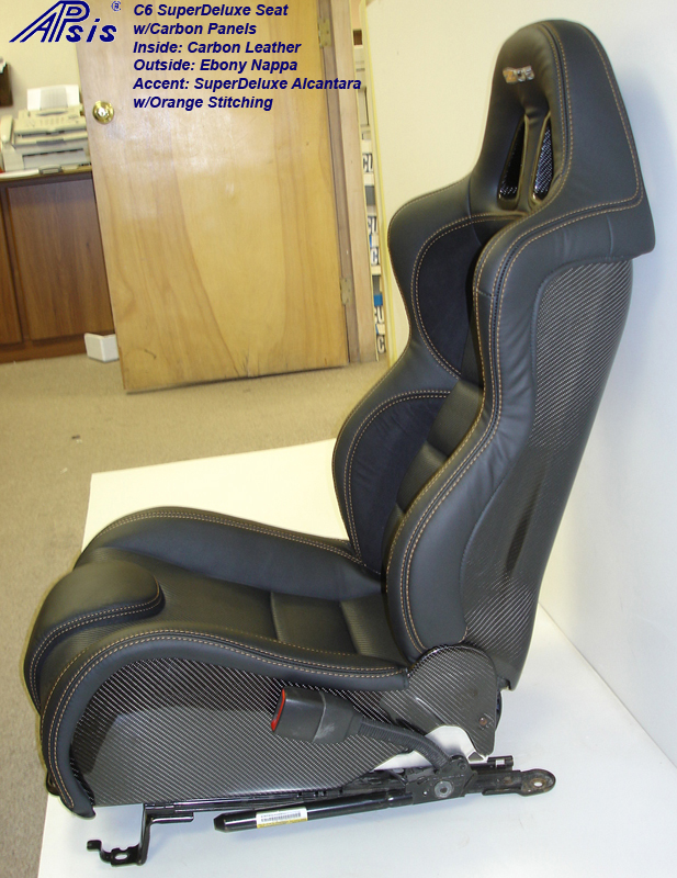 C6 SuperDeluxe Seat w-carbon-EB+CL+AL w-orange stitching-pass-side view-5