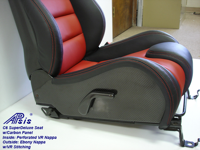 C6 SuperDeluxe Seat w-carbon panel-close shot showing carbon-lower-1