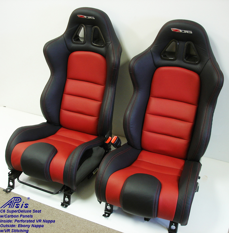C6 SuperDeluxe Seat w-carbon panel-pair-side view-4