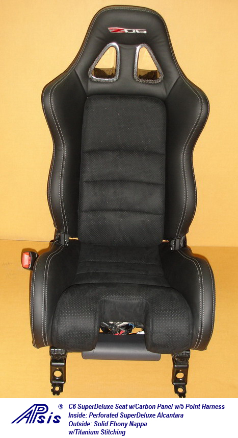 C6 SuperDeluxe Seat w-carbon panel w-5 point harness-single-1-jean
