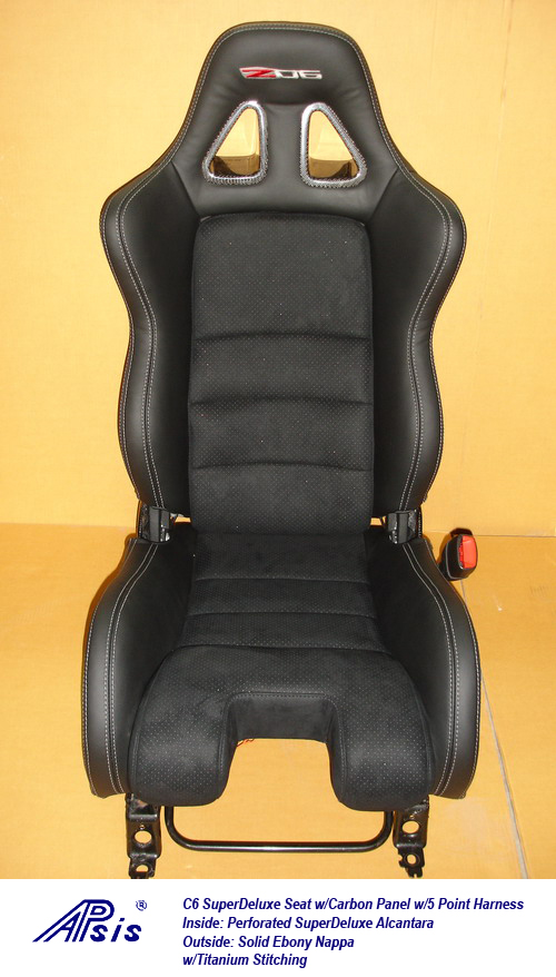 C6 SuperDeluxe Seat w-carbon panel w-5 point harness-single-2-jean