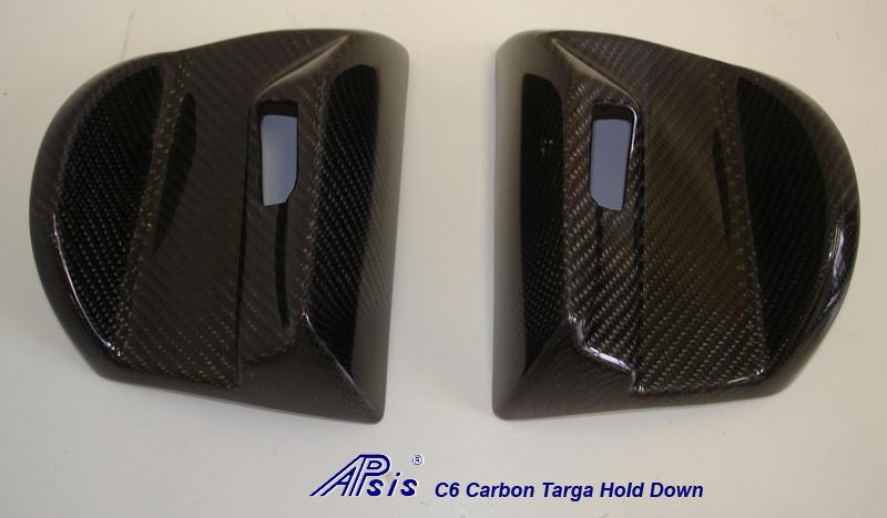 C6 Targa Hold Down-Black CF-1 pair