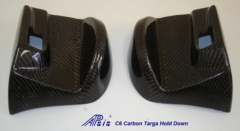C6 Targa Hold Down-Black CF-3 pair