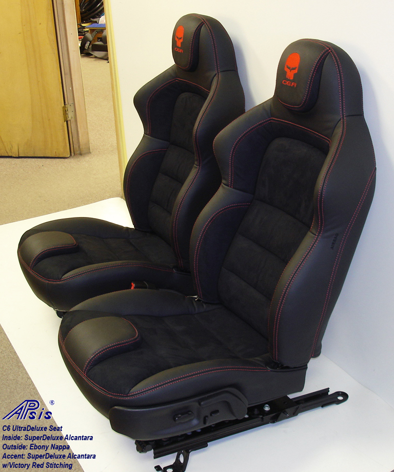C6 UltraDeluxe Seat-EB+SA w-red stitching-pair-1